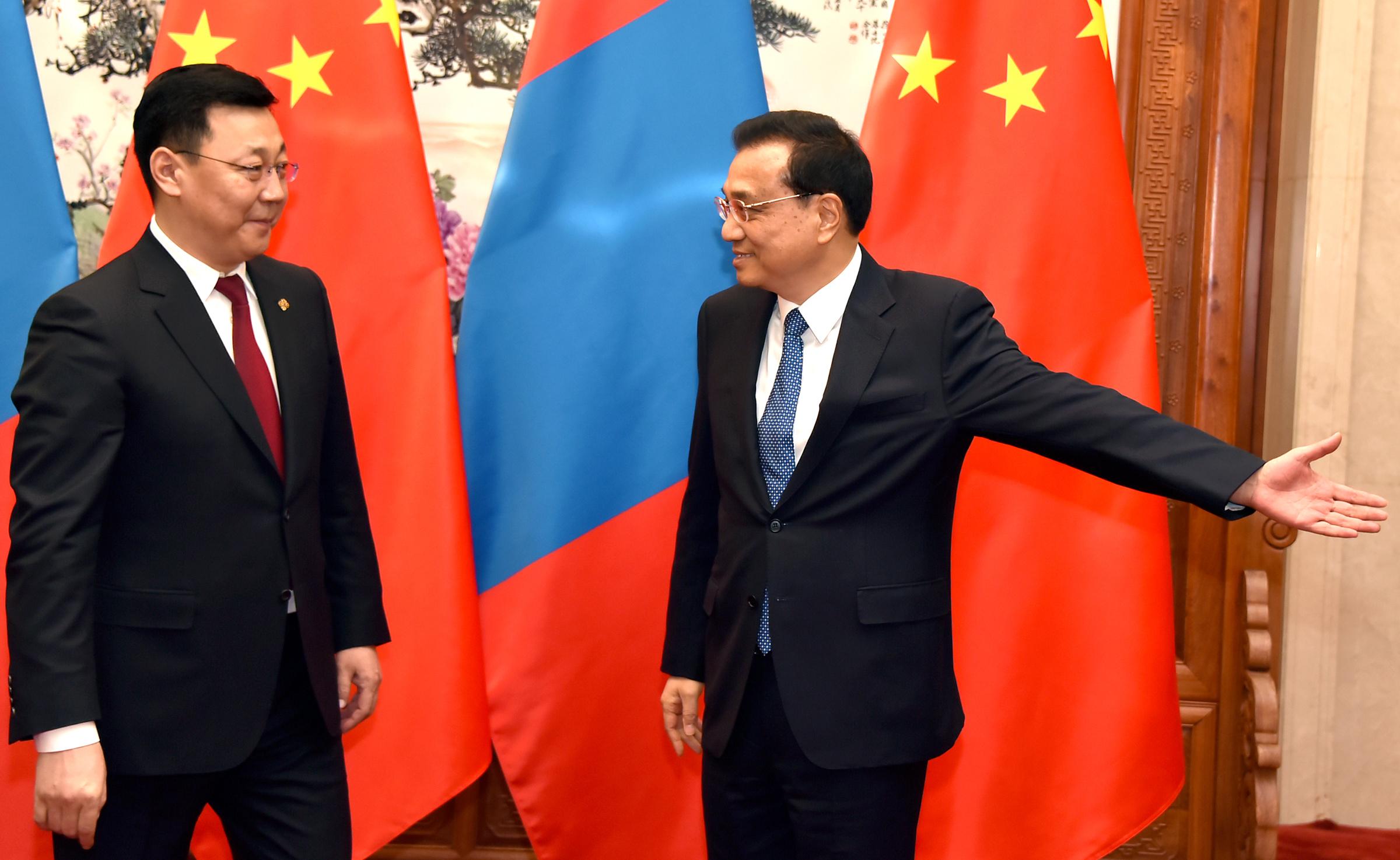 5a66e3ccd15b0671942dc3a676048b5c Монгол Улсын Ерөнхий сайд Ж.Эрдэнэбат, БНХАУ-ын Төрийн Зөвлөлийн Ерөнхий сайд Ли Көчянтай нар албан ёсны хэлэлцээ хийв